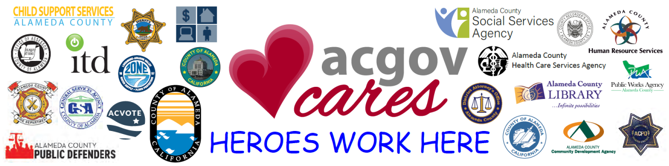 ACGovCares banner that has all of the department logos and says, Heroes Work Here